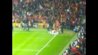 26.02.2012 Galatasaray Beşiktaş 3. Gol Sonrası Pegasus Üst