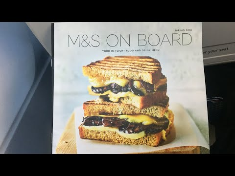 British Airways M&S Buy On Board Economy Class / Euro Traveller Full Menu | BA Buy On Board