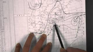 等圧線の描き方と気象通報 How to describe weather charts