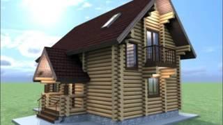 видео Проект коттеджа дома 10,5х10 двухэтажный с балконом и террасой