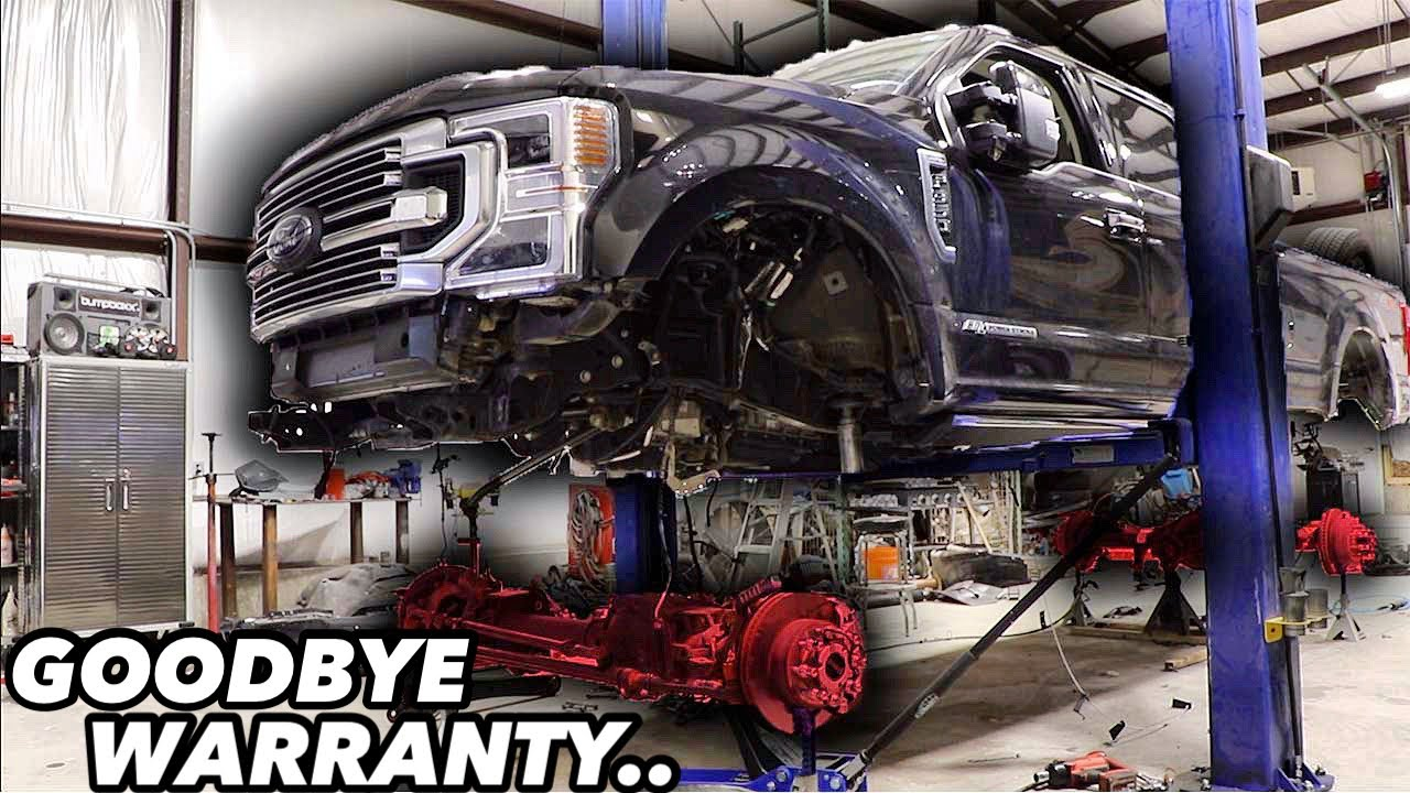 Ruining A Brand New Ford F-350 For SEMA!