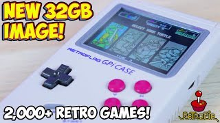 NEW Retroflag GPi Case Supreme 32gb RetroPie Image With Over 2000 Games!