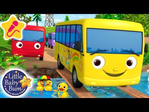 Ten Little Buses | KARAOKE for Kids + More Nursery Rhymes & Kids Songs | Little Baby Bum