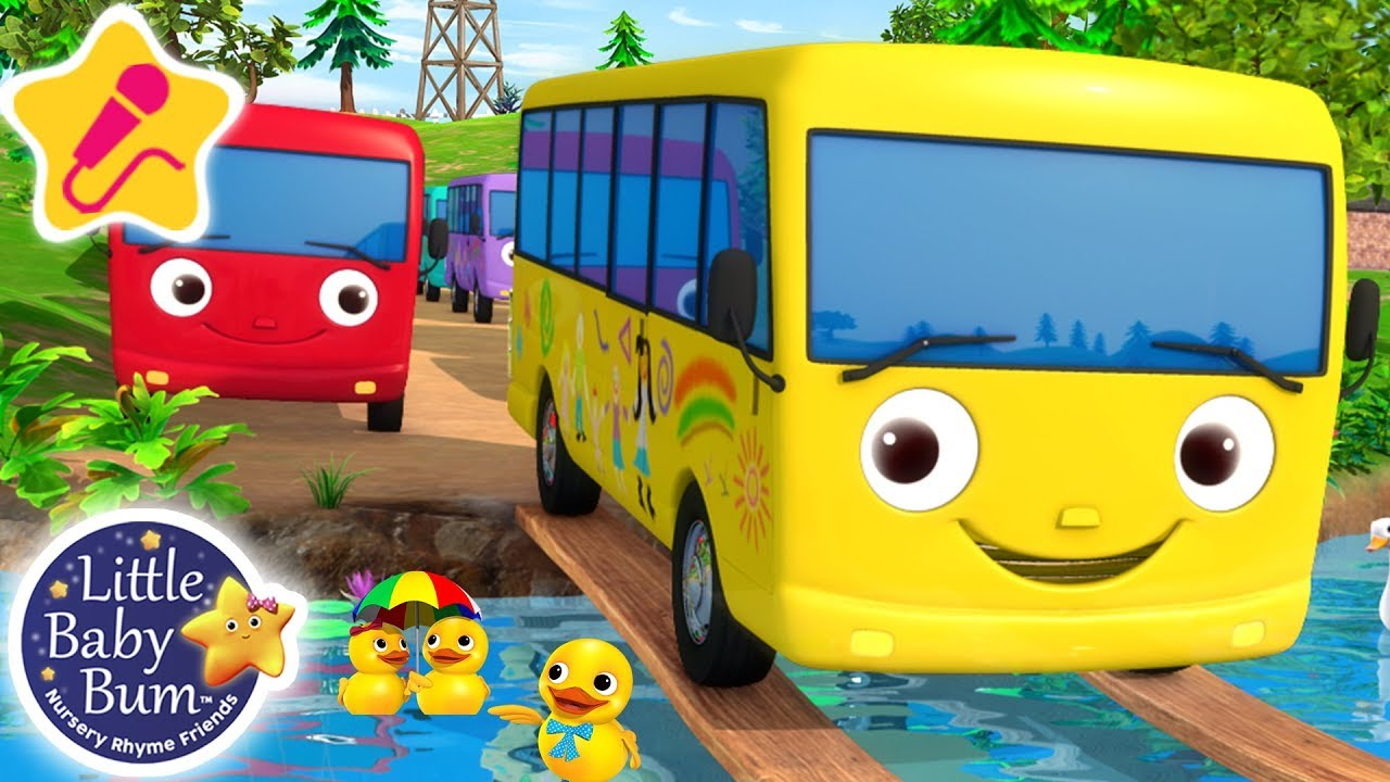 Ten Little Buses   KARAOKE for Kids + More Nursery Rhymes & Kids Songs   Little Baby Bum