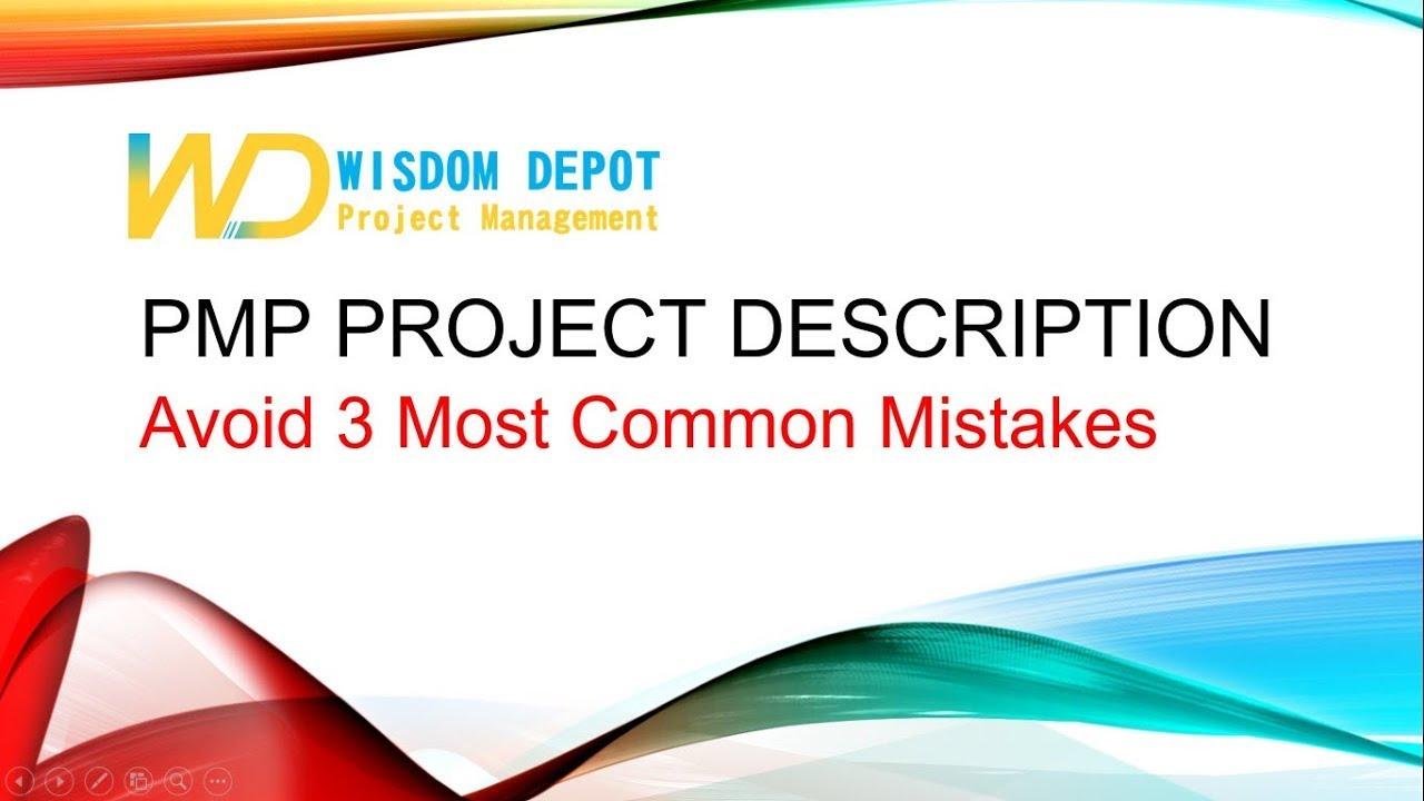 Complete Guide for PMP Project Description | Wisdom Depot