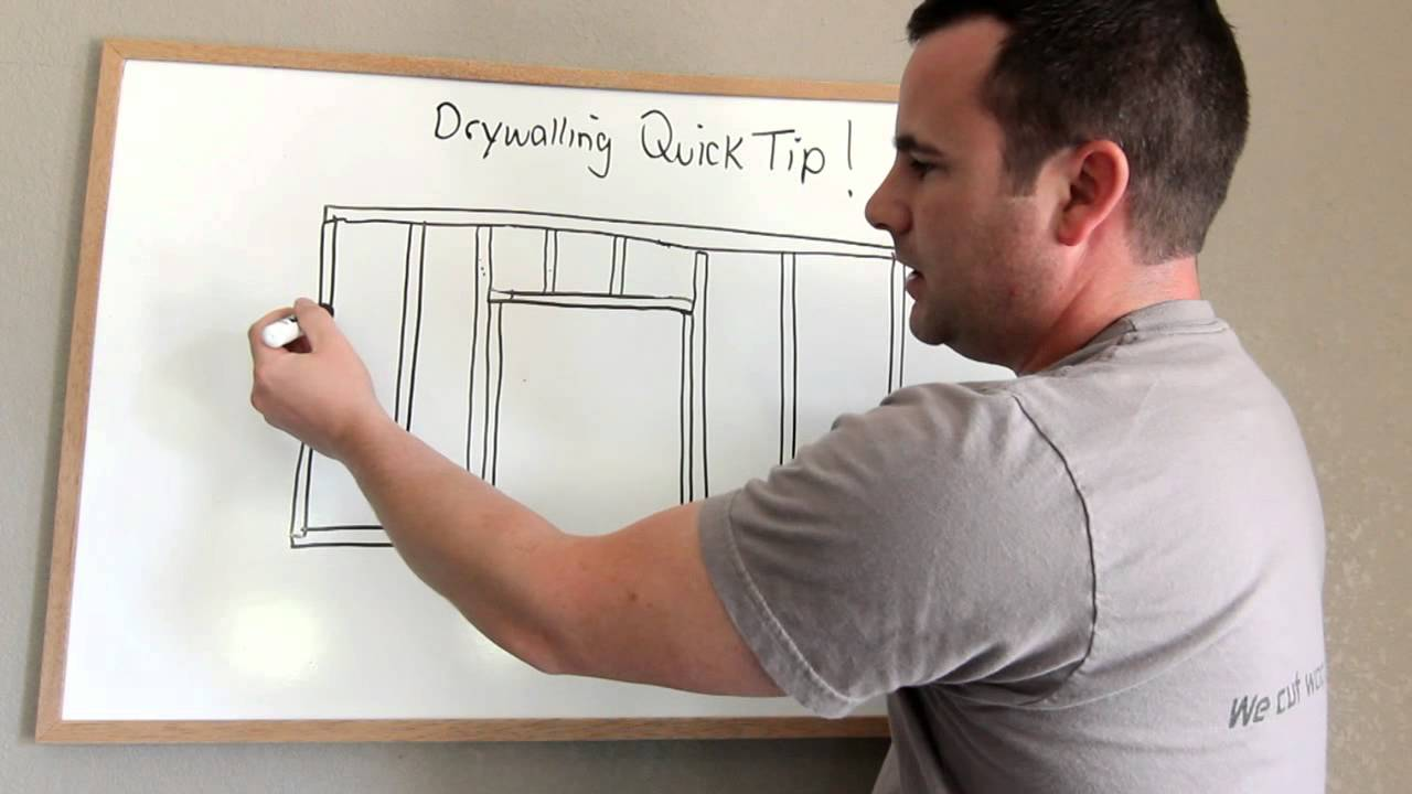 How To Hang Drywall To Avoid Cracks Around Doors Youtube