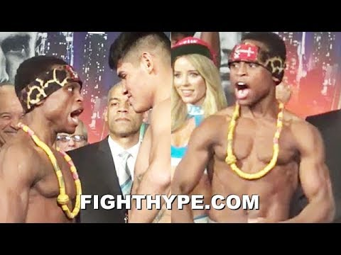 """ISAAC DOGBOE GETS IN NAVARRETE'S FACE WITH """"NEHO"""" WAR CRY; STEALS SHOW WITH GHANAIAN DRUM & DANCE"""