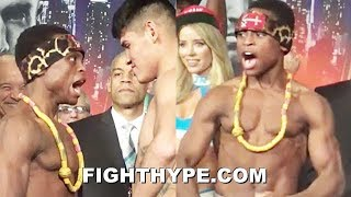 ISAAC DOGBOE GETS IN NAVARRETE'S FACE WITH