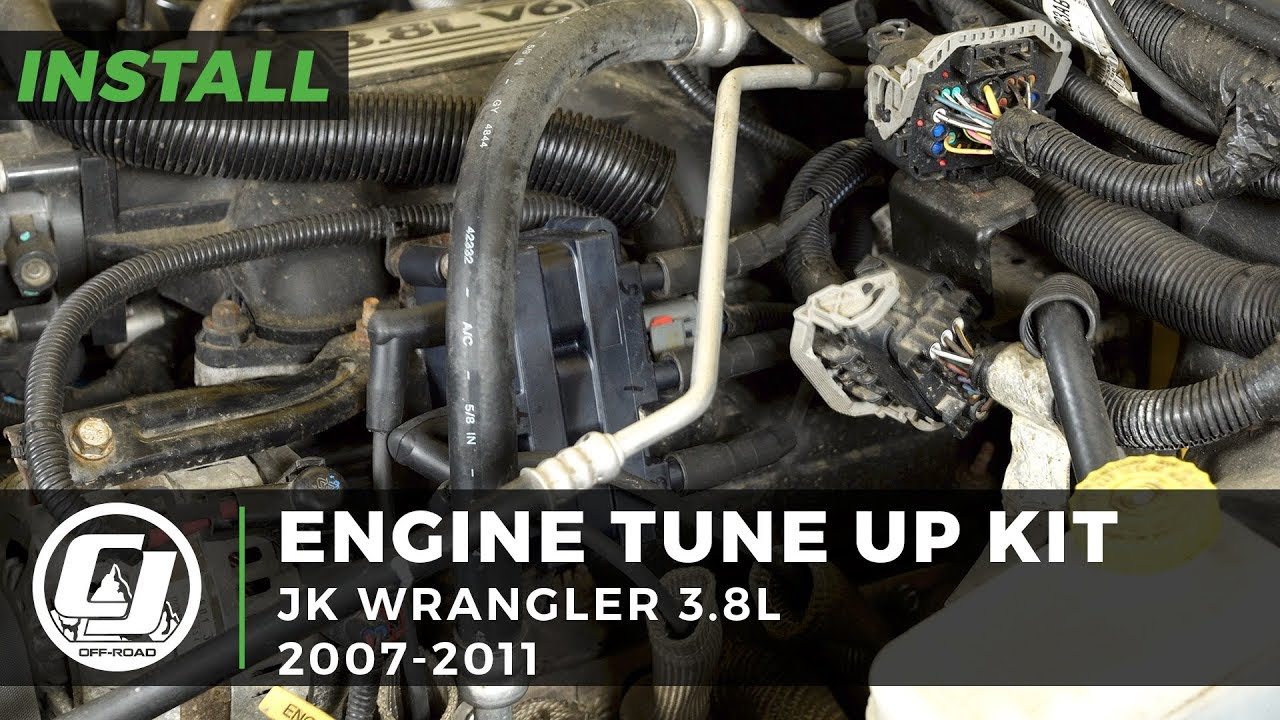 2007 2011 jeep wrangler jk install engine tune up kit with ngk v power spark plugs [ 1280 x 720 Pixel ]