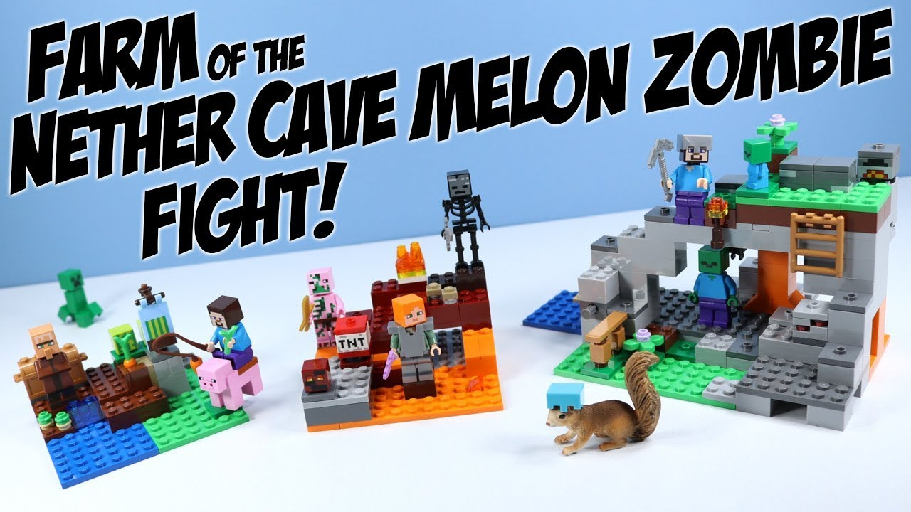 LEGO 21141 Minecraft The Zombie Cave Adventures Building Set with Steve Zombie