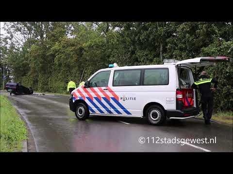 Auto Belandt Op Dak Bij Eenzijdig Ongeval Middelburg