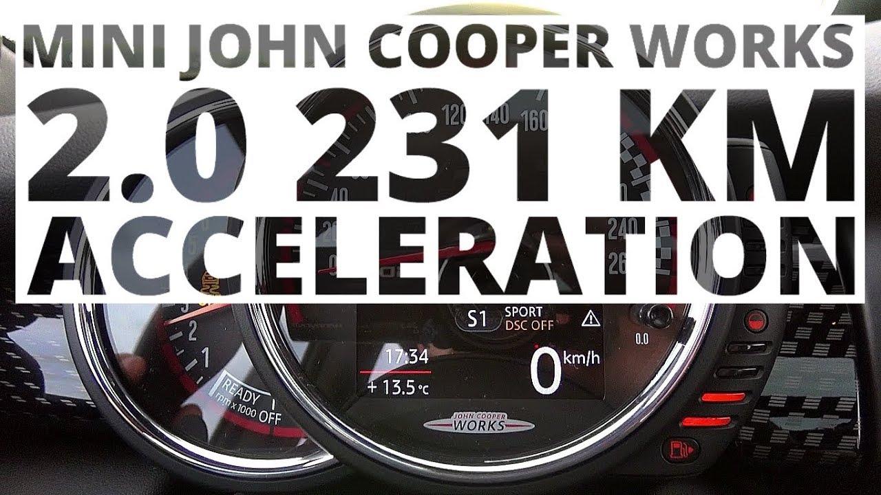 MINI John Cooper Works 2.0 231 KM (AT) – acceleration 0-100 km/h