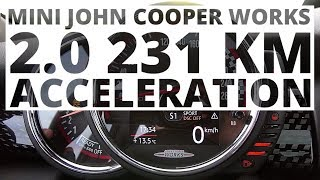 MINI John Cooper Works 2.0 231 KM (AT) - acceleration 0-100 km/h