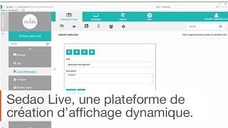 Comment faire de l'affichage dynamique sur écran interactif avec Sedao Live ?
