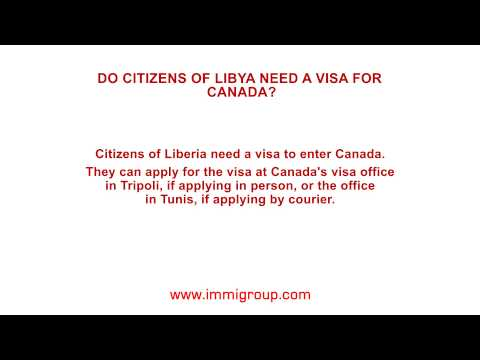 Do citizens of Libya need a visa for Canada?