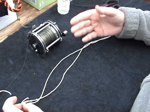 Best Way To Spool And Tie Braid Fishing Line Youtube