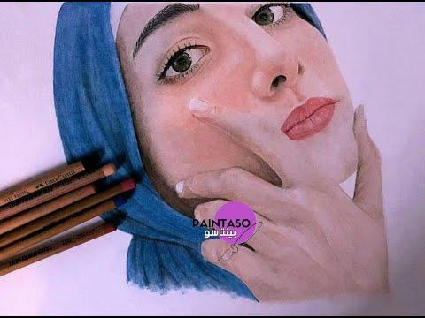 بورتريه لصديقتي الفنانة سارة خالد بألوان باستيل