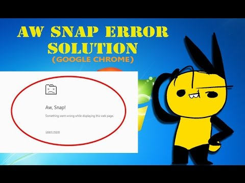 Aw Snap | Chrome Browser Error Solved | Working 100%