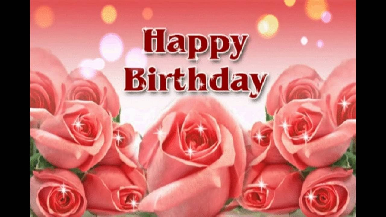 Happy Birthday Flower YouTube – Flower Greetings for Birthday