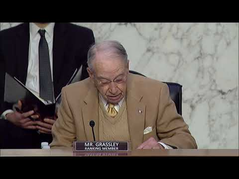 Grassley Opening Remarks at Judiciary hearing on FBI Oversight