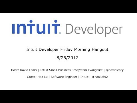 Intuit Developer Friday Morning Hangout – Topic: PHP SDK for QuickBooks Online Deep Dive
