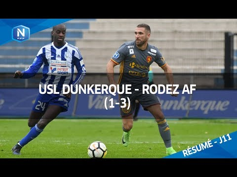 J11 : USL Dunkerque - Rodez AF (1-3), le résumé I FFF 2017