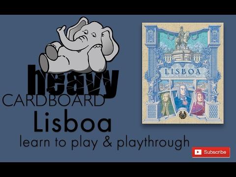 Heavy Cardboard Teaches Lisboa & Full Playthrough!