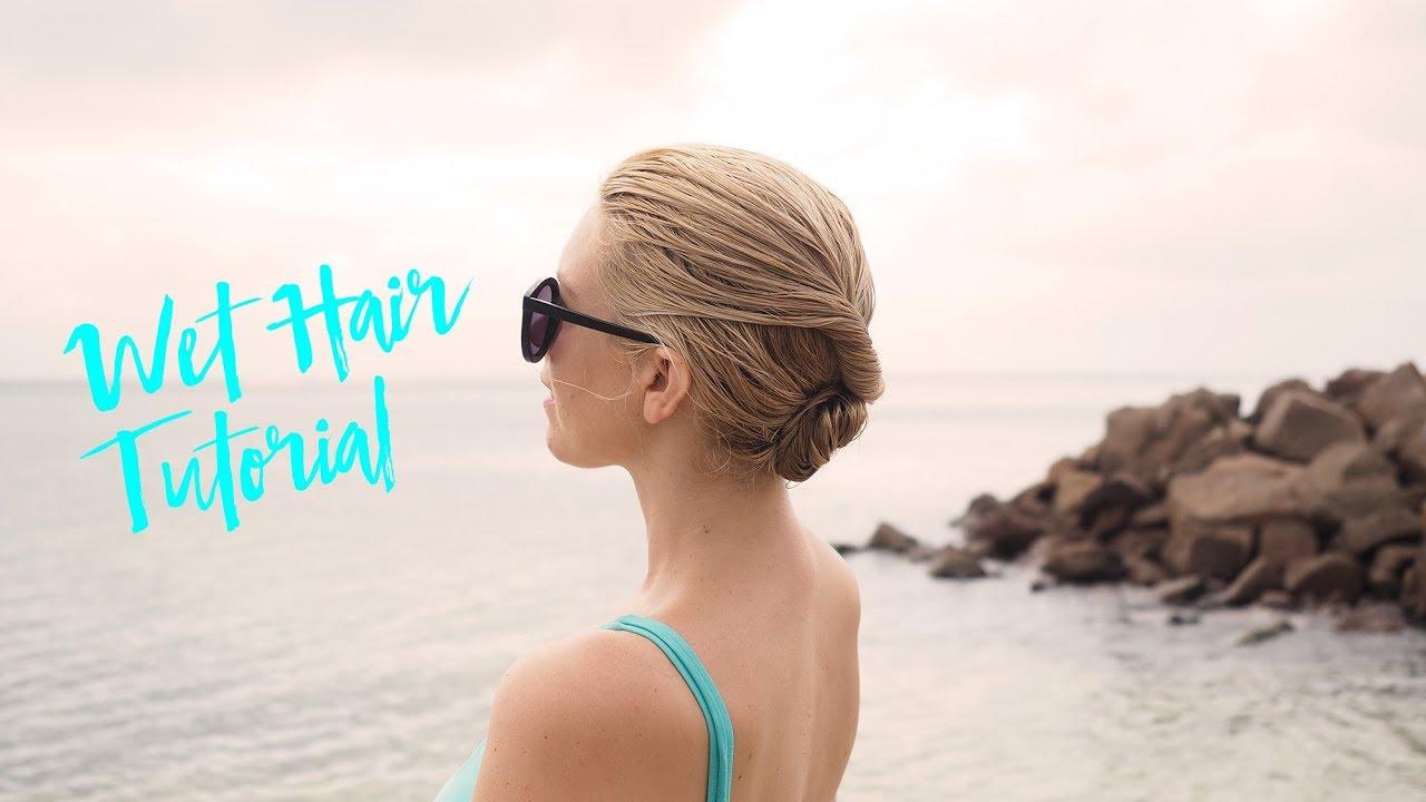 beach hairstyle - easy bun