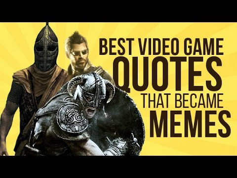 Best Video Game Quotes That Became Memes Gamepressure Com Youtube