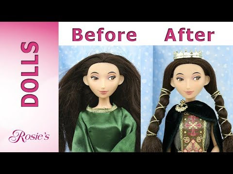 Disney Queen Elinor Makeover - Hair Repair And New Clothes