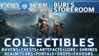 God of War - Buri's Storeroom All Collectible Locations (Ravens, Chests, Artefacts, Shrines) - 100%