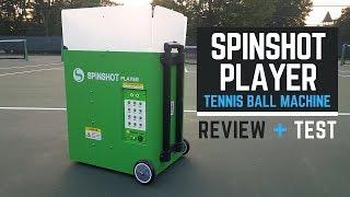Spinshot Player Tennis Ball Machine Review!