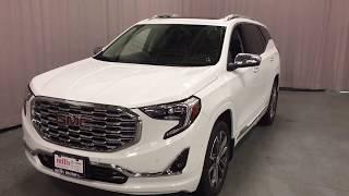 2018 GMC Terrain Denali Hands Free Hatch Auto Parking White Oshawa ON Stock #180182