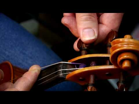 Violins & Orchestra Instruments : How to String a Violin