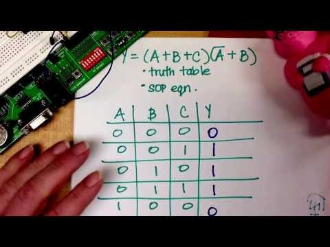 POS Combinational Logic Expression to Truth Table and SOP Expression