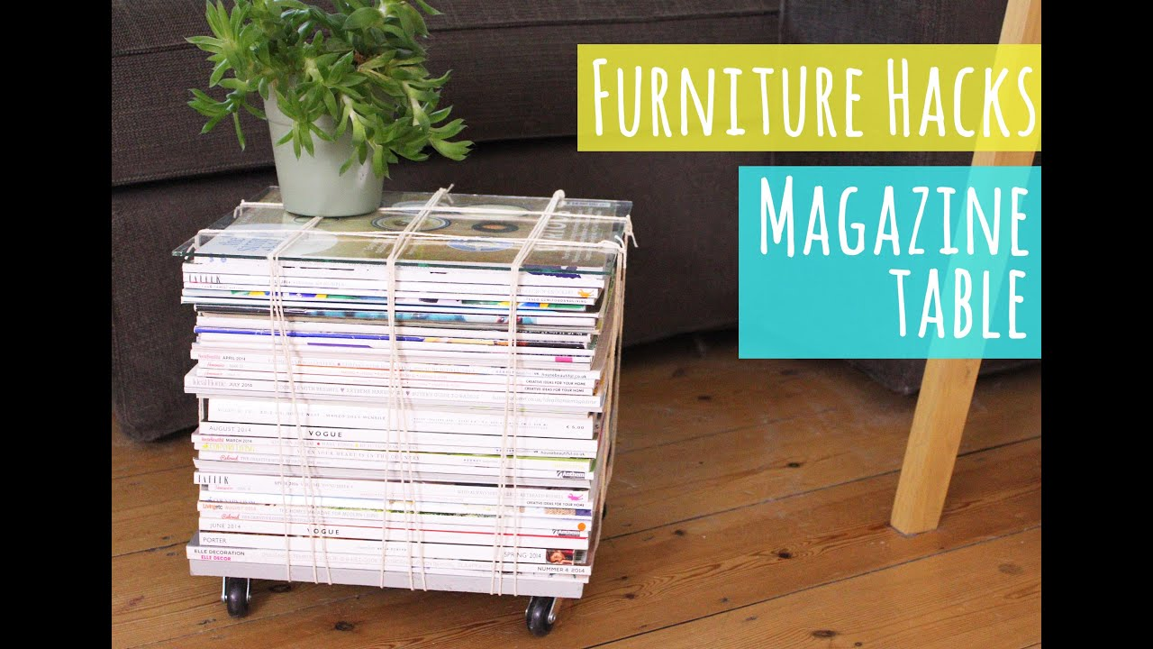 magazine table tutorial from my furniture hacks book youtube. Black Bedroom Furniture Sets. Home Design Ideas