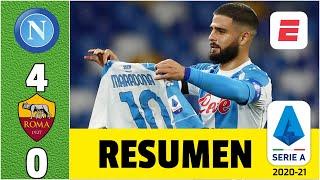 Napoli 4-0 AS Roma. Goleada con dedicatoria a Diego Armando Maradona | Serie A
