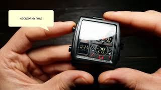 Мужские наручные часы Skmei 1274 обзор, настройка
