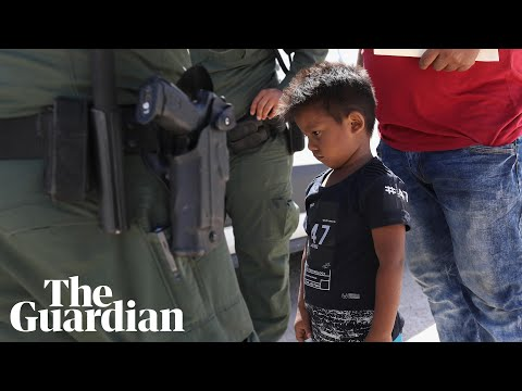 US immigration protests as hundreds of children held in Texas facility