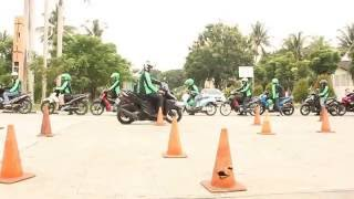 safety riding grab bike with trainers management indonesia