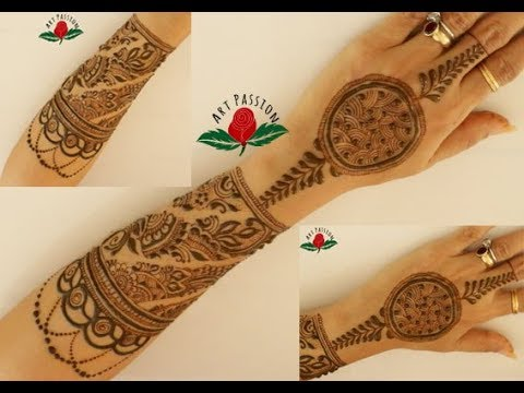Party Mehndi Red Cone Ingredients : Infinity style mehndi design beginner should practice with