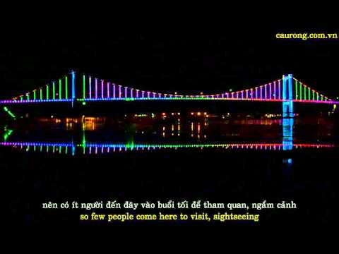 Thuan Phuoc Bridge at night - Cầu Thuận Phước về đêm
