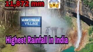 Highest Rainfall Places In India