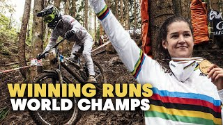 The Wettest Race Ever? | Winning Runs 2020 from the Downhill World Championships in Leogang, Austria