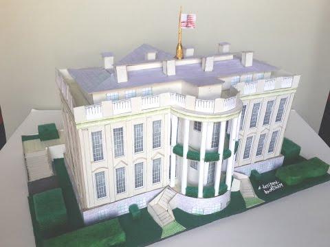 كيف تصنع مجسم البيت الأبيض/How to make a model of the White House