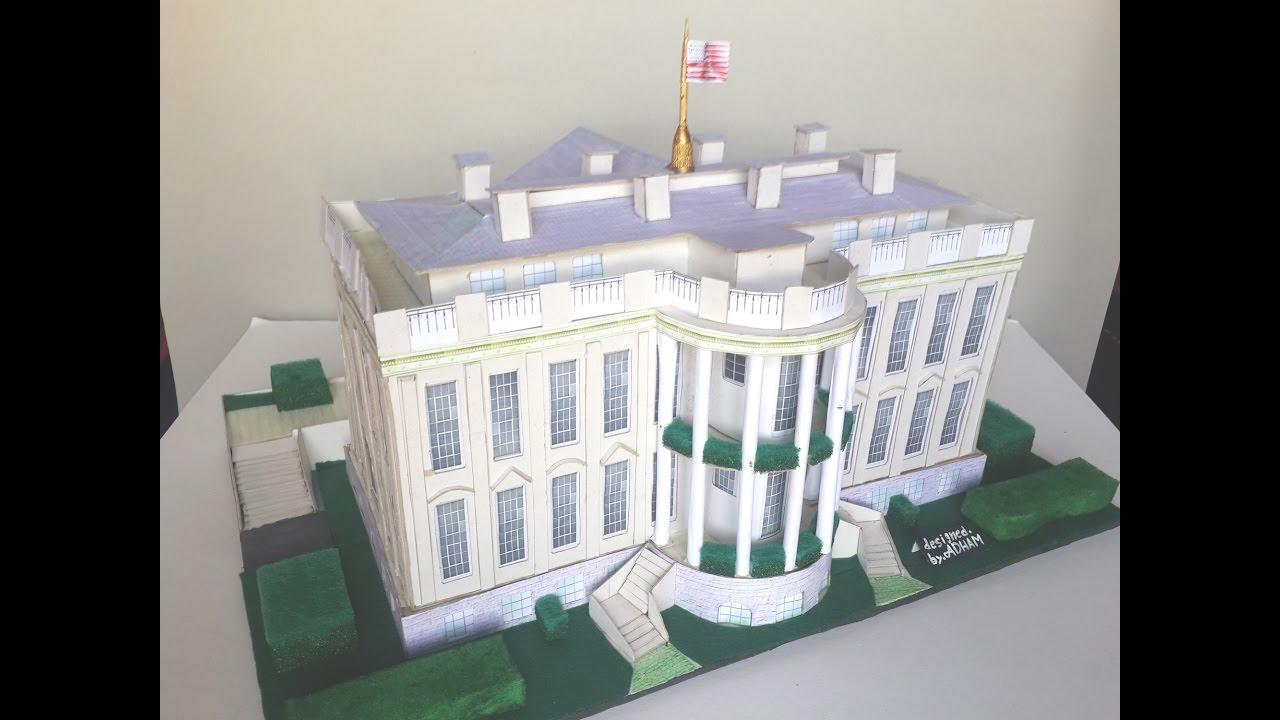 كيف تصنع مجسم البيت الأبيض How To Make A Model Of The