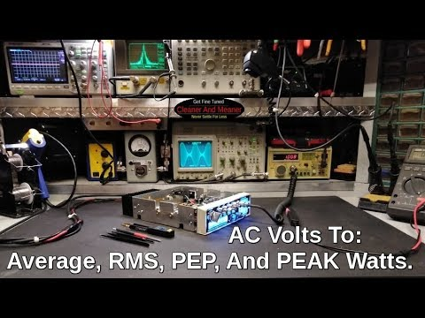 Average RMS PEP And PEAK Power.. AC volts to watts. Pay Attention CB Radio World!. from YouTube · Duration:  5 minutes 4 seconds