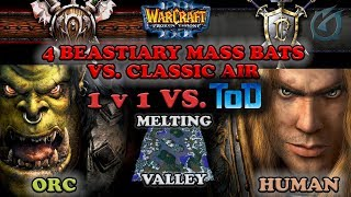 Grubby | Warcraft 3 The Frozen Throne | Orc v HU - 1v1 vs ToD - 4 Beastiary Mass Bats vs Classic Air
