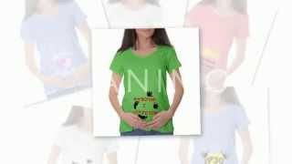 видео футболки для беременных