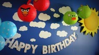 Decoração da Festinha Angry Birds